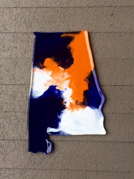 Auburn (Alabama) Pottery Platter - Medium
