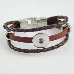 Leather Bracelet_KB0829-Brown
