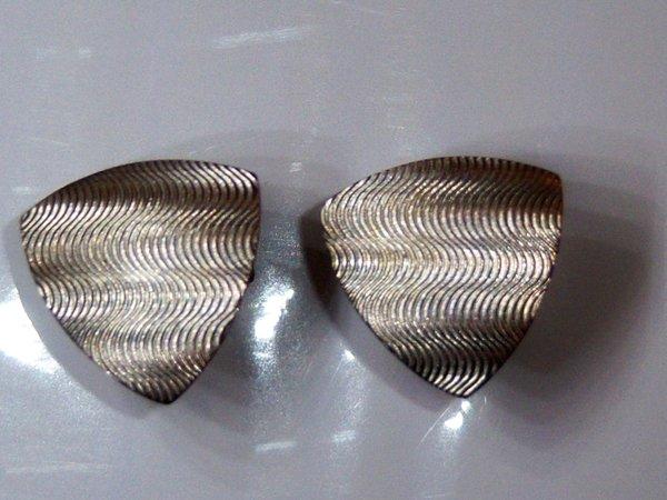 Vintage Cufflinks. Hypnotic Triangle Cufflinks.