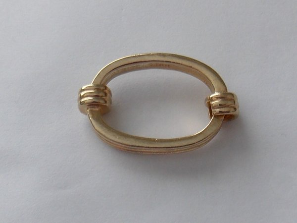 Banded Ornate Tie Ring