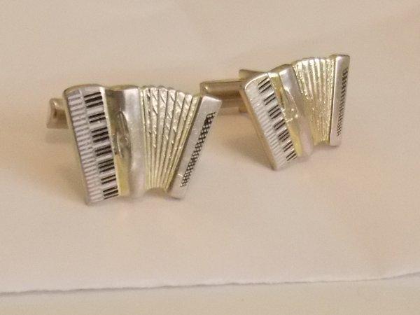Vintage Accordion Cufflinks. Squeezebox Cufflinks. Folk Cufflinks.