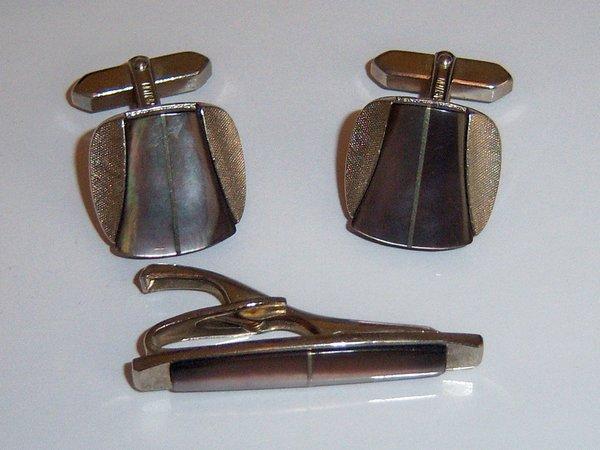 Signed Inlay Vintage Cufflinks
