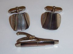 Signed Inlay Vintage Cufflinks