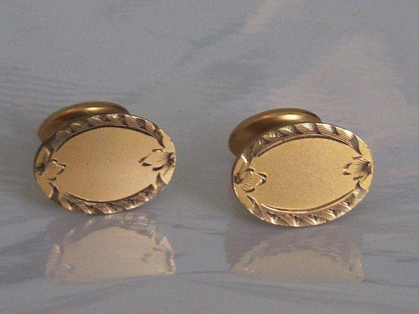 Antique Cufflinks. Ornate Edge Design Cufflinks.