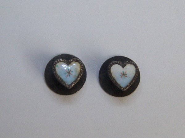 Mini 925 Fine Silver Heart Shirt Studs