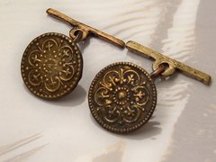 Antique Spanish Buttons. Convert Cufflinks. Cross Cufflinks.