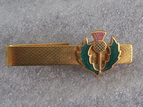 Vintage Thistle Tie Clip. Scottish Tie Clip.