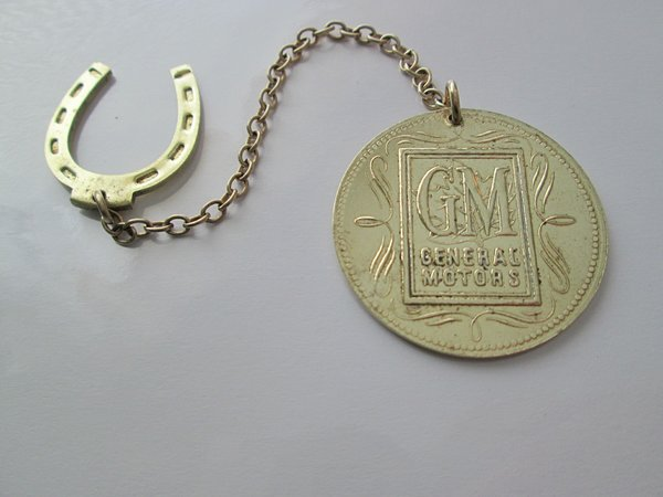 1950 GM Collectible Good Luck Medallion With Horseshoe.