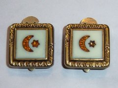Trademark Clip Moon Star Antique Victorian Cufflinks.