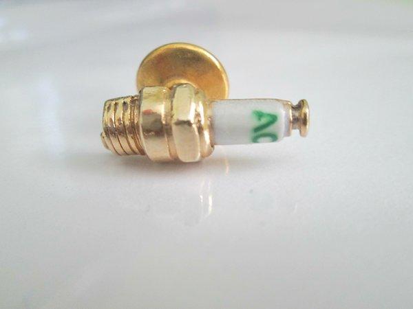 Tiny Vintage Tie Tac. Vintage Spark Plug Tie Tac.