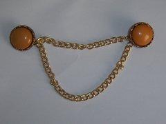 Vintage Butterscotch Blazer Vest Button Chains