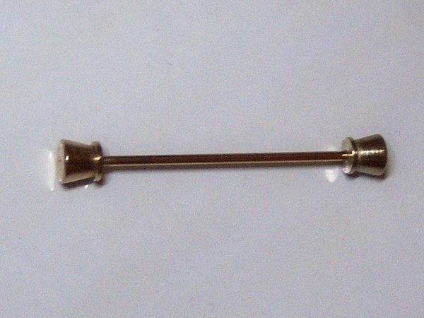 Vintage Gold Tone Top Hat Collar Bar