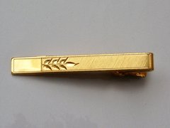 Signed Vintage Tie Clip With Wheat Motif.