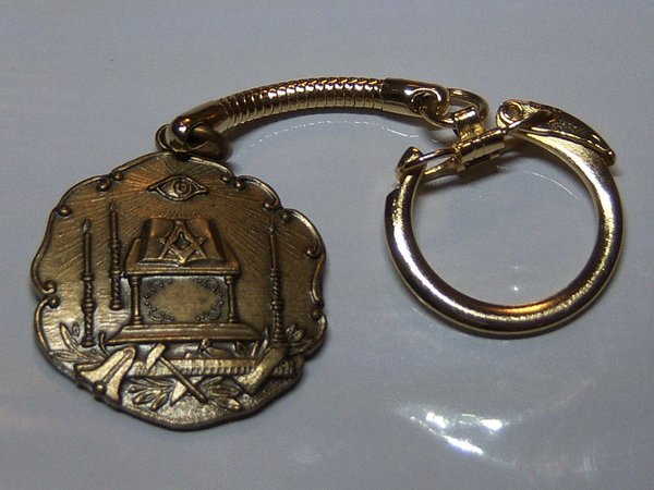 Vintage Key Chain. Masonic Key Chain.