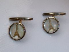 Vintage Eiffel Tower Cufflinks. Paris Travel Souvenir Cufflinks.