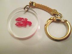 Vintage Summer Keychain. Vintage Lobster Key Chain.