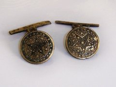 Antique Spanish Buttons. Convert Cufflinks. Star Cufflinks.