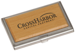 Business card holders trophy shop calgary engraving awards business card holder woodstainless steel reheart Image collections