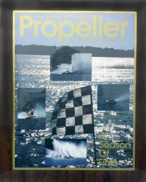Framed vintage Propeller Magazine covers