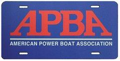 APBA License Plate