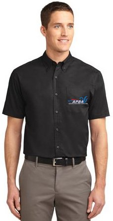 Short Sleeve Easy Care Shirt-embroidered