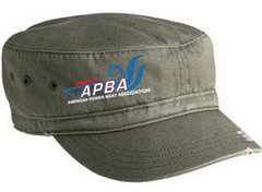 APBA Distressed Military Hat-embroidered