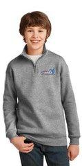Youth 1/4-Zip Cadet Collar Sweatshirt-embroidered