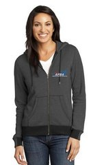 Ladies Mini Stripe Full-Zip Hoodie-embroidered