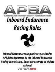 Inboard Endurance Racing Rules