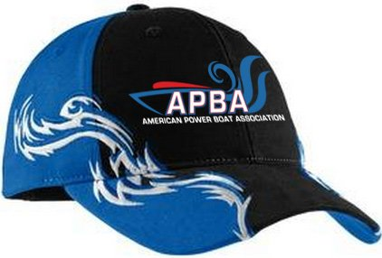 APBA Racing Hat with Flames-embroidered