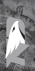 UND Grey Logo Concrete 1 on Grey Dauphin™ Hard Rubber Phone Case