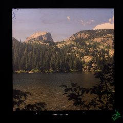 "8"" X 8"" Bear Lake Out Rock Wood Photo"