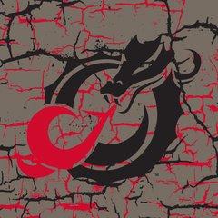 "MSUM Dragon Logo on Cracked background 4 6"" Ceramic Tile"