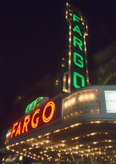 "8"" X 11"" Fargo Theater #1 Glass Cutting Board"