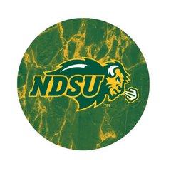 NDSU Primary Logo Marble 1 Sandstone Car Coaster