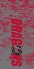 MSUM Dragons in Red Water 1 on Red Dauphin™ Hard Rubber Case Phone Case