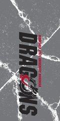 MSUM Dragons in Black Cracks 1 on Grey Dauphin™ Hard Rubber Case Phone Case