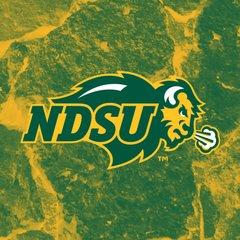 NDSU Primary Logo Stones 1 Square Sandstone Coaster