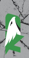 UND Green Logo Cracks 2 on Grey Dauphin™ Hard Rubber Phone Case