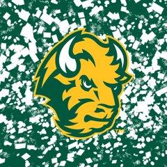 NDSU Head Logo Confetti 2 Square Sandstone Coaster