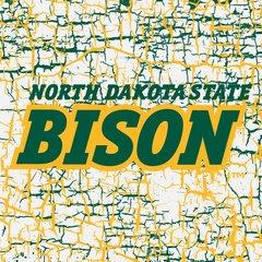 """NDSU Bison words on Cracks 3 6"""" Ceramic Tile"""