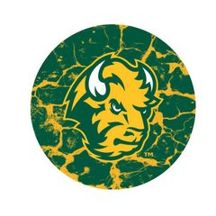 NDSU Head Cracks 3 Pewter Key Chain or Money Clip