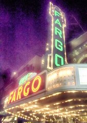 "8"" X 11"" Fargo Theater #1HDR Glass Cutting Board"
