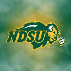 NDSU Primary Logo Fog 2 Square Sandstone Coaster
