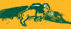 NDSU Body Logo on Water 1 Rectangle Ring Stand™ Phone Holder