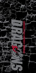MSUM Dragons in Grey Cracks 3 on Black Dauphin™ Hard Rubber Case Phone Case
