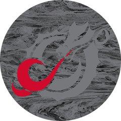 MSUM Grey Dragon Concrete 1 on Grey Sandstone Car Coaster