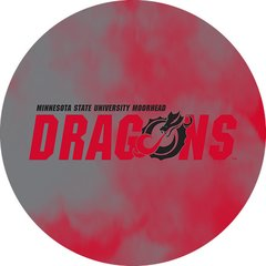 MSUM Dragons in Red Black Dragon Clouds 1 on Red Sandstone Car Coaster