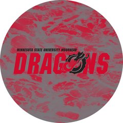 MSUM Dragons in Red Black Dragon Water 1 on Red Sandstone Car Coaster