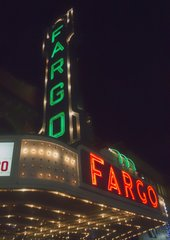 "8"" X 11"" Fargo Theater #2 Glass Cutting Board"